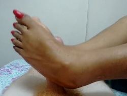 Hot Indian Footjob 6
